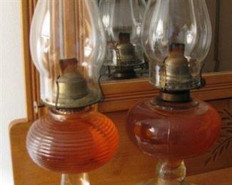 Antique Large Kerosene Lamps