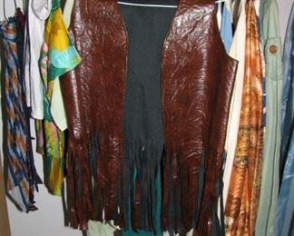 Faux Leather Fringe Vest