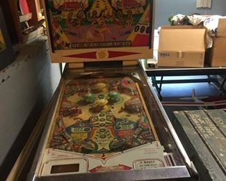 "first shot of Williams ""Tom Tom"" 1963 vintage pinball machine--it works!"