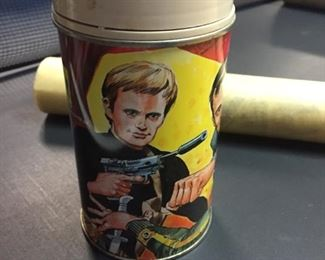 Man from U.N.C.L.E. thermos in great condition-more vintage toys too