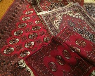 more small Persian carpets-room size-area size--