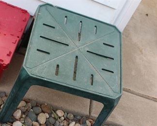 plastic patio small table