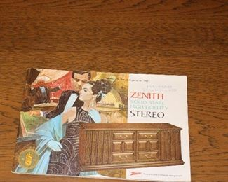 Zenith Stereo Vintage book