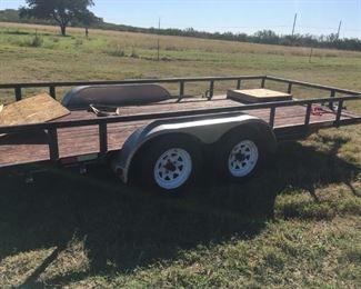 16' flatbed trailer