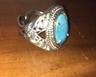Turquoise  wrist bracelet  bigger than looks it is not a ring