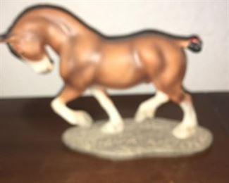 clydesdale horse statues