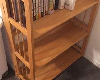 wooden folding shelf