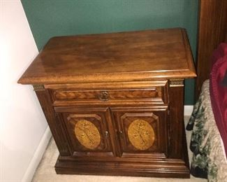 pair of stanley bedside chests