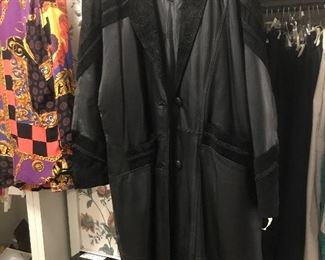 Fitz Wright vintage leather and suede  coat