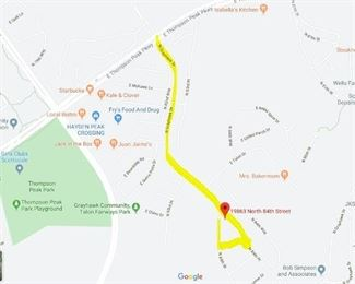 Directions from Thompson Peak Parkway