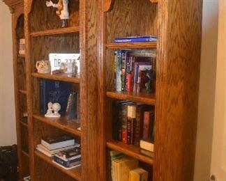 3 piece oak bookshelves