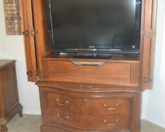 entertainment armoire, flat screen television