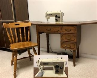 Kenmore sewing machine, with accessories(drawers full)