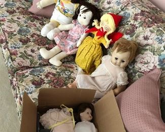 Handmade and store brought dolls