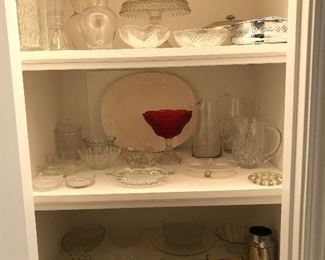 Crystal, glass ware!  Dishes, vases, pitchers....