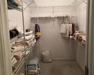 Linens, table cloths, bedspreads, sheets,  towels etc.