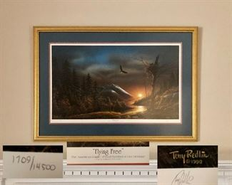 'Flying Free' A Limited Edition by Terry Redlin  1990  Signed and numbered: 1709/14500