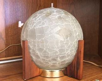 Mid century modern globe lamp