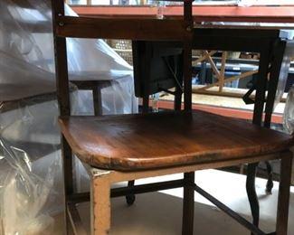 A schoolhouse style chair