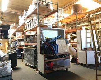 A warehouse full of everything from end tables to garden furniture.