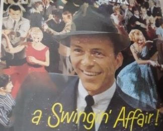 Vintage vinyl Frank Sinatra album A Swingin Affair