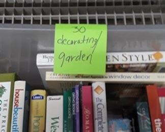 Books from decorating to gardening