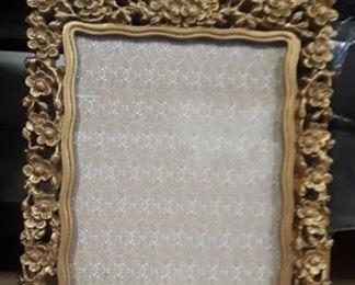 Rococo style gold photo frame