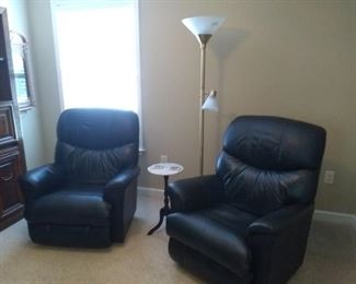 Matching leather recliners