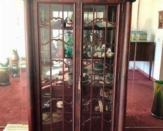 Incredible Claw footed mahogany china cabinet