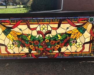 Large stained glass window.