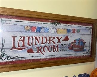 LAUNDRY ROOM FRAMED PICTURE