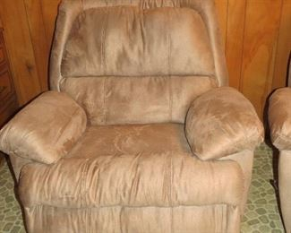 A PAIR OF THESE COMFY RECLINERS.