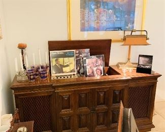 Record Player Console Working Condition