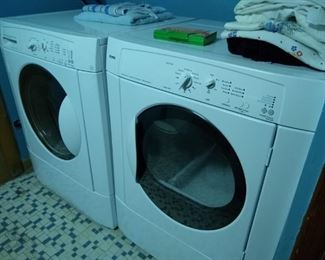 Very nice washer and dryer set, used briefly.  KENMORE