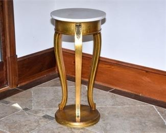 4. Marble Top Plant Stand
