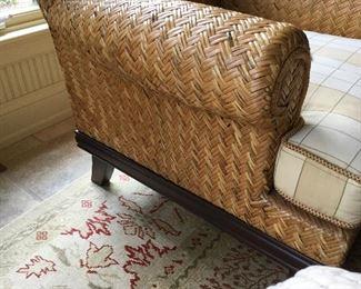 Wicker chair side