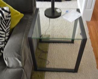 Saber Modernist Glass End Table (MSRP $449)