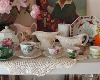 This house is filled with beautiful items tea cup collections and more