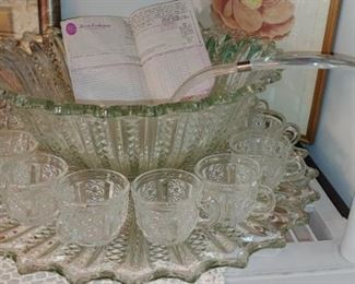 Fabulous large Tiara punch bowl and all the Cubs we have the original box and paperwork