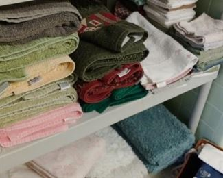 Lots of towels and other linens