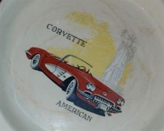 Vintage corvette ashtray