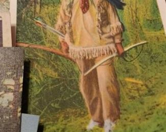 Vintage Cherokee Indian vintage linen postcards