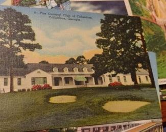 Vintage Columbus Georgia country club postcard