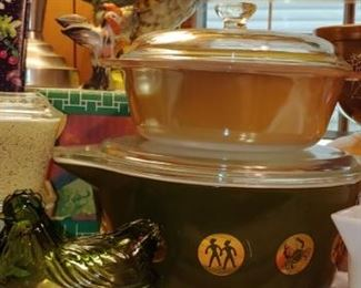 Great selection of vintage Pyrex check out the zodiac Pyrex dish