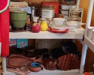 Check out those pig figurines this kitchen is packed out with good stuff