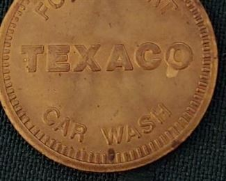 Vintage Texico Food Mart car wash token