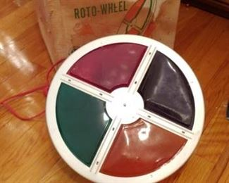 Vintage color wheel Roto wheel for silver Christmas tree