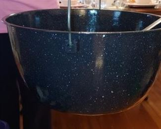 Great enamel bucket with handle