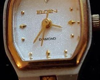 Pretty Elgin watch a small diamond