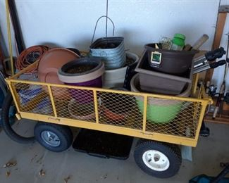 Gardening Supplies & Wagon